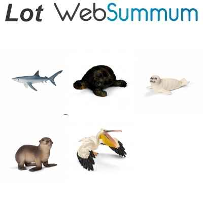 Lot 5 figurines animaux de la mer Schleich -LWS-77