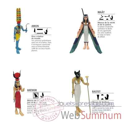 Lot 4 Figurines d\'Egypte Plastoy -LWS-126