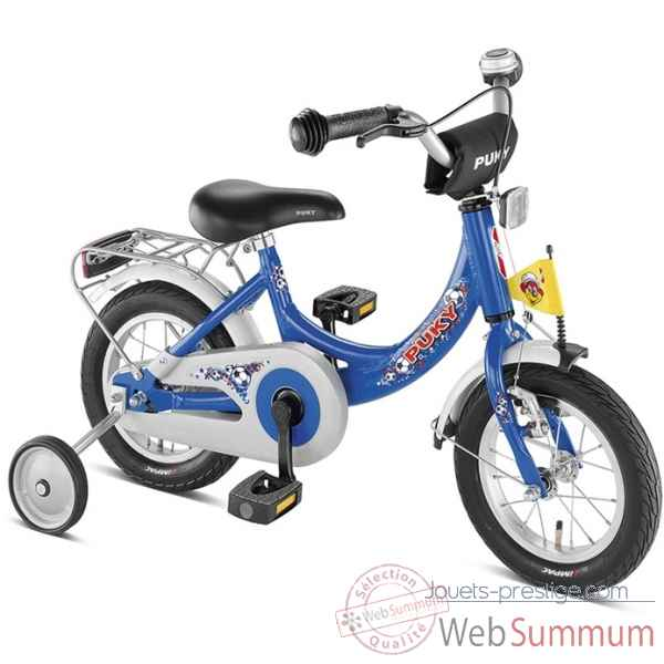 Bicyclette zl 12-1 alu bleu football puky 4122