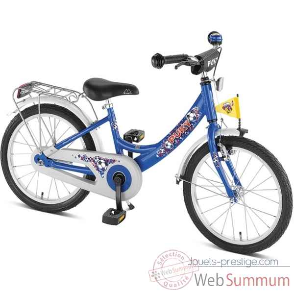 Bicyclette zl 16-1 alu bleu football puky 4222