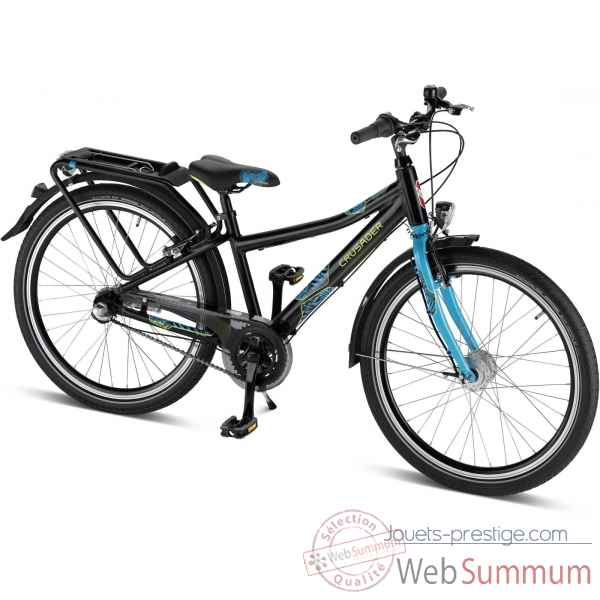 Bicyclette alu 24\'\' 3 vit noir-lagoon crusader 24-3 city light Puky -4828