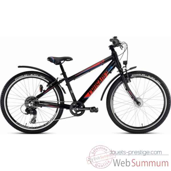 Bicyclette crusader 24-8 alu active light noir puky -4866