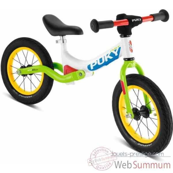 Velo draisienne avec suspension et pneus air lr ride blanc/kiwi puky -4082