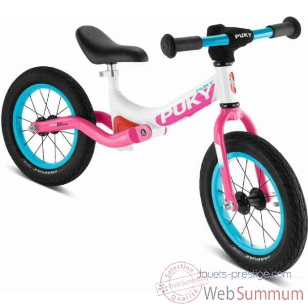Velo draisienne avec suspension et pneus air lr ride blanc/pink puky -4083