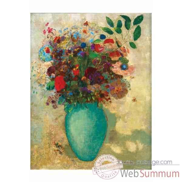 Puzzle Vase turquoise redon Puzzle Michele Wilson A137-150