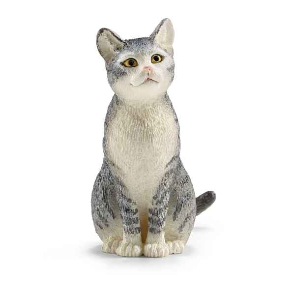 Chat, assis schleich -13771
