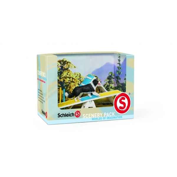 Figurine kit decor agilite canine animaux schleich 41803