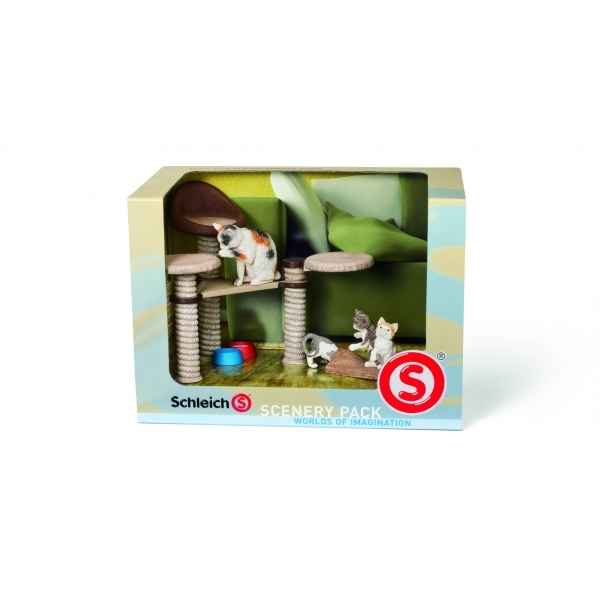 Figurine kit decor chats animaux schleich 41801