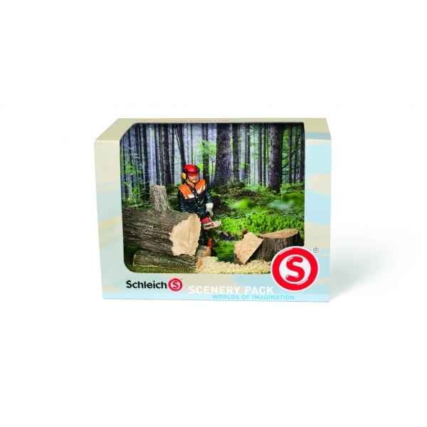 Figurine kit decor travaux en foret animaux schleich 41806