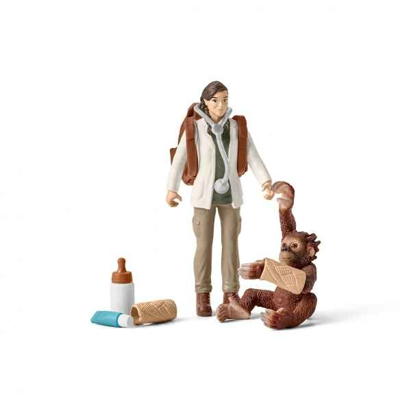 Figurine veterinaire en intervention schleich -42353
