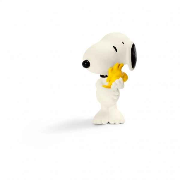 Snoopy hugging woodstock schleich -22005