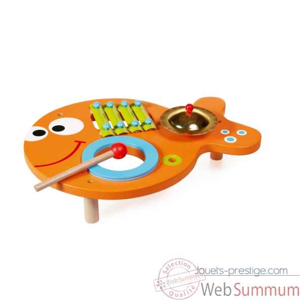 Ensemble musical poisson 3 en 1 en bois Scratch -6181804