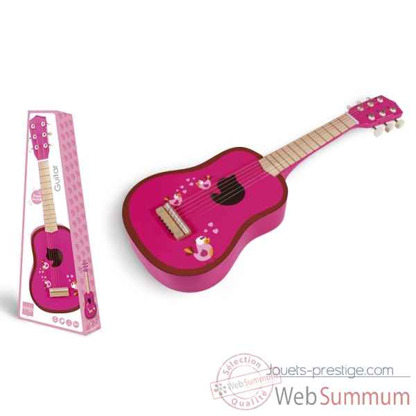 Guitare love birds en bois 6 cordes Scratch -6181807