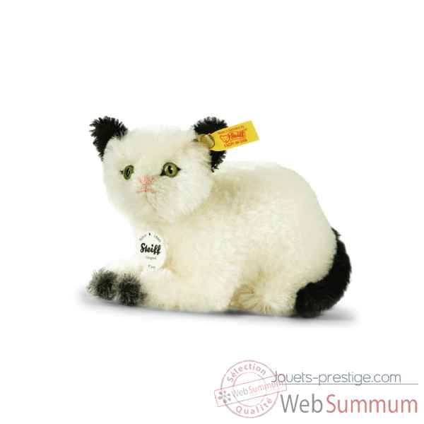 Chat kitty, noir et blanc STEIFF -033483