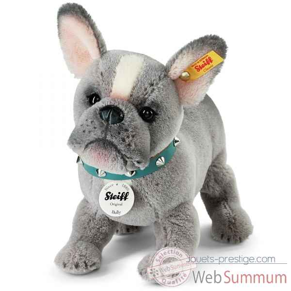 Chien bully bulldog puppy, gris STEIFF -036156