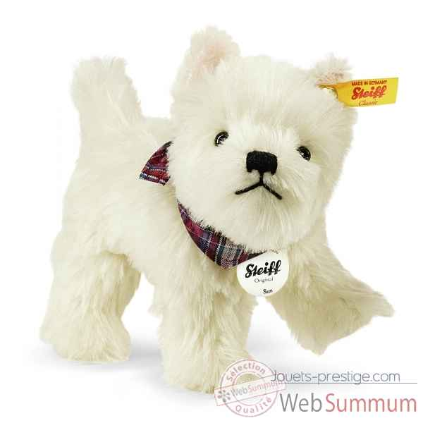 Chien sam west highland terrier, blanc STEIFF -033513