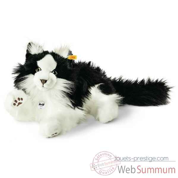 Norwegian forest chat, noir/blanc STEIFF -035852