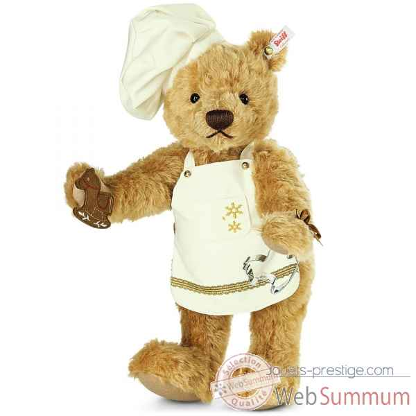 Ours christmas baker teddy bear, reddish blond STEIFF -021244