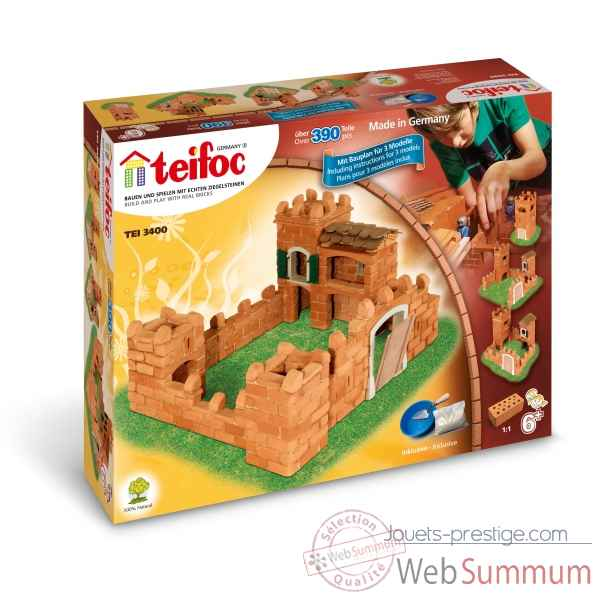 Coffret grand chateau fort, 3 plans Teifoc -TEI3400