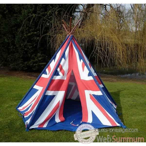 tipi tente pour enfant drapeau anglais the old basket. Black Bedroom Furniture Sets. Home Design Ideas