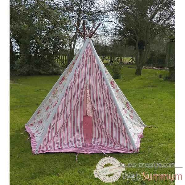 tipi tente pour enfant rose fleurs the old basket 21767 de jouet plein air. Black Bedroom Furniture Sets. Home Design Ideas