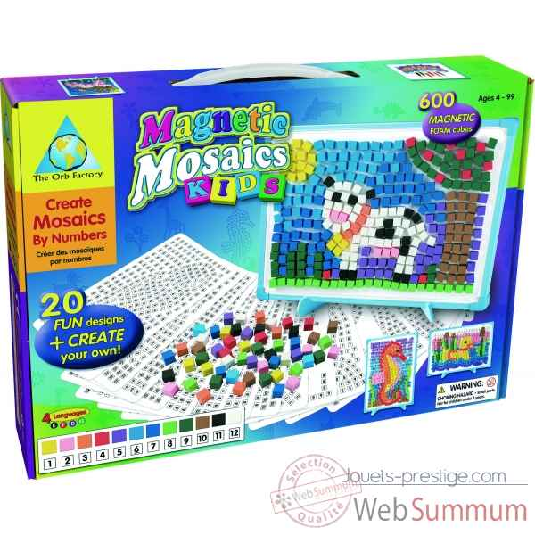 Mes 1er mosaiques magnetiques kids - magnetic mosaics The ORB Factory -ORB62057