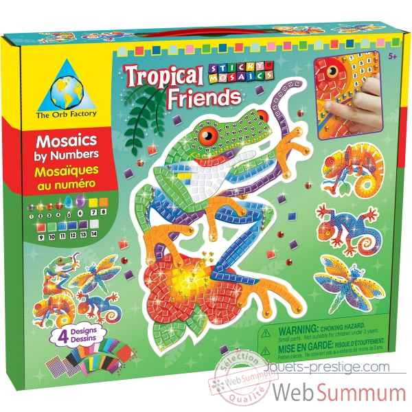 Mosaiques autocollantes - animaux tropicaux sticky mosaics The ORB Factory -ORB64259