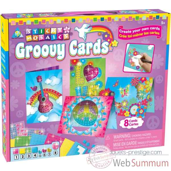 Mosaiques autocollantes - cartes postales groovy sticky mosaics The ORB Factory -ORB81577