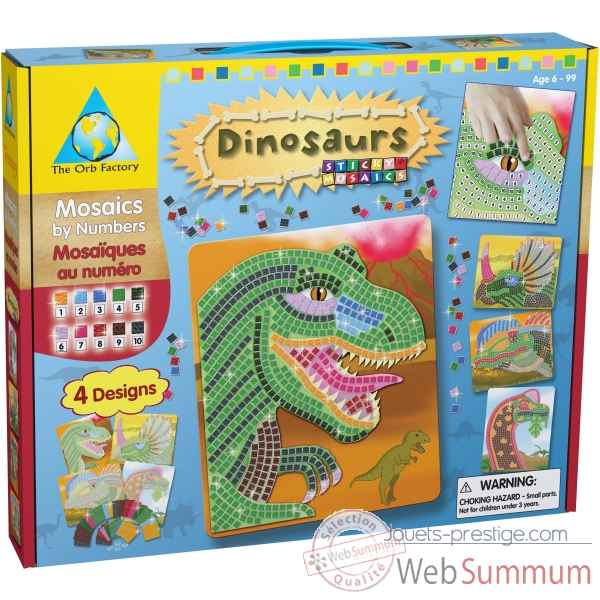 Mosaiques autocollantes - dinosaures sticky mosaics The ORB Factory -ORB62446