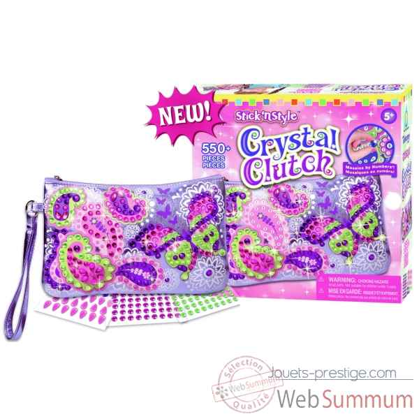 Mosaiques autocollantes - pochette mode crystal stick n' style The ORB Factory -ORB81492