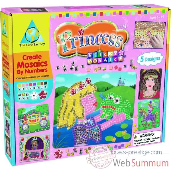 Mosaiques autocollantes - princesse sticky mosaics The ORB Factory -ORB62071