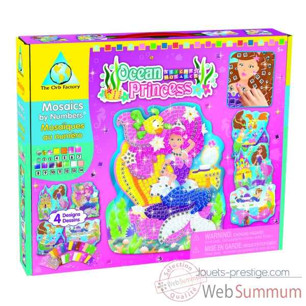Mosaiques autocollantes - princesses ocean sticky mosaics The ORB Factory -ORB64112