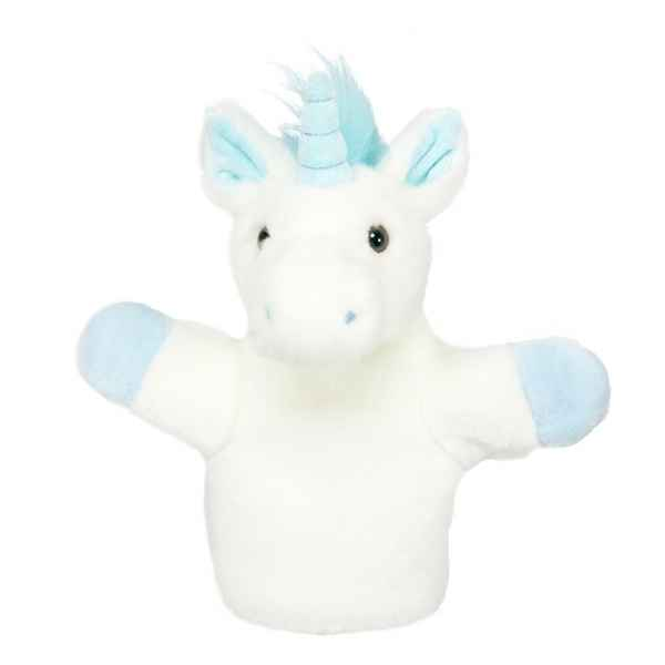 Marionnette peluche animaux licorne bleue the puppet company -PC008042