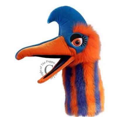 Oiseau jangle bleu et orange the puppet company -pc006305