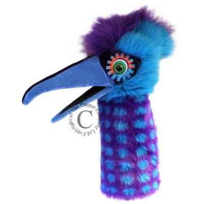 Oiseau pickle bleu violet the puppet company -pc006308