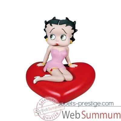 Figurine tirelire Betty Boop robe rose -80007