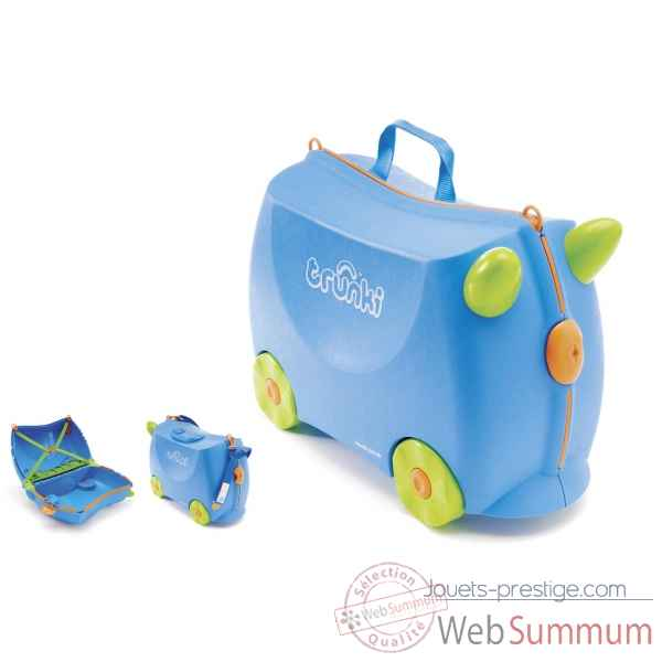 Porteur valise trunki ride-on bleu terrance -9220005