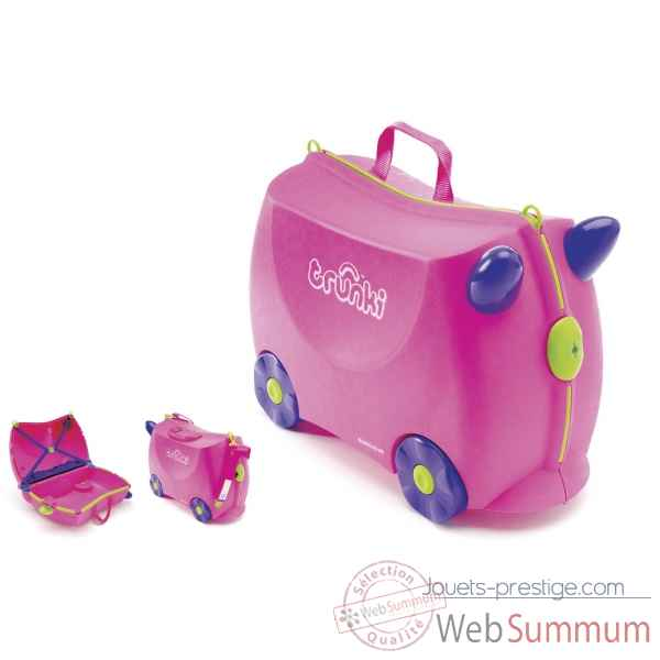 Porteur valise trunki ride-on rose trixie -9220006