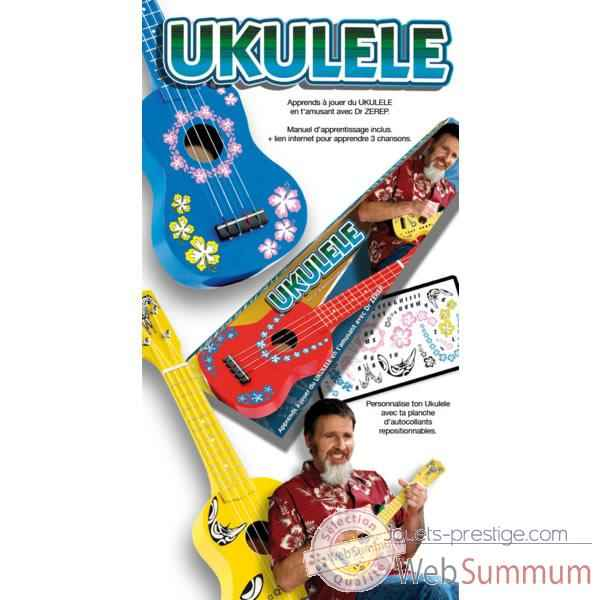 Ukulele avec instruction rouge, bleu et rose Oid Magic-MU5