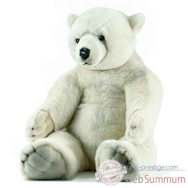 Peluche anima ours polaires assis 100cmh ushuaia junior -106