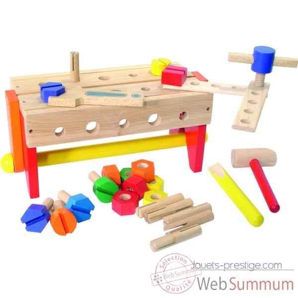 etabli bo te outils r versible jouet vilac de jouets en bois sur jouets prestige. Black Bedroom Furniture Sets. Home Design Ideas