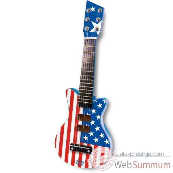 Guitare rock bleue usa en bois vilac -8333