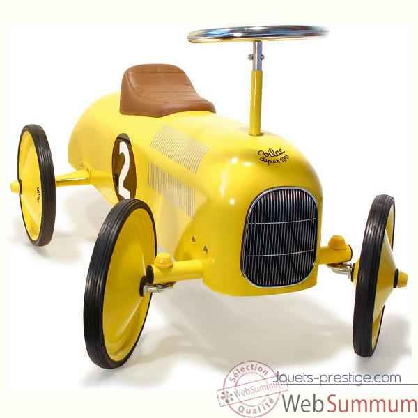 Video Voiture metal porteur jaune - Vilac 1051