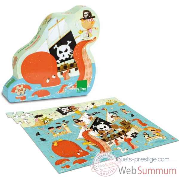 Puzzle pirates (150 pcs) vilac -2612
