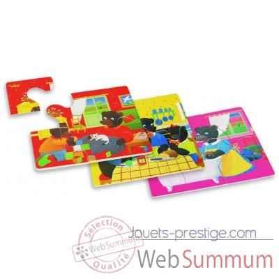 4 puzzles petit ours brun la maison jouet vilac 6018. Black Bedroom Furniture Sets. Home Design Ideas
