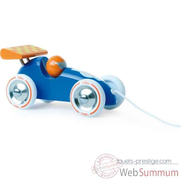 Voiture de course a trainer bleue et orange vilac -2309Y