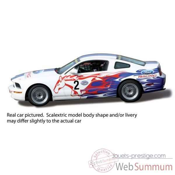 Voiture Classique Scalextric Ford Mustang FR500C Vainqueur Coupe Euro 2007 -sca3000